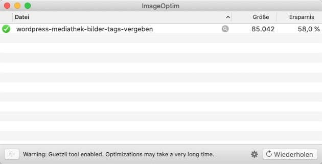 Bilder SEO: Datei komprimieren