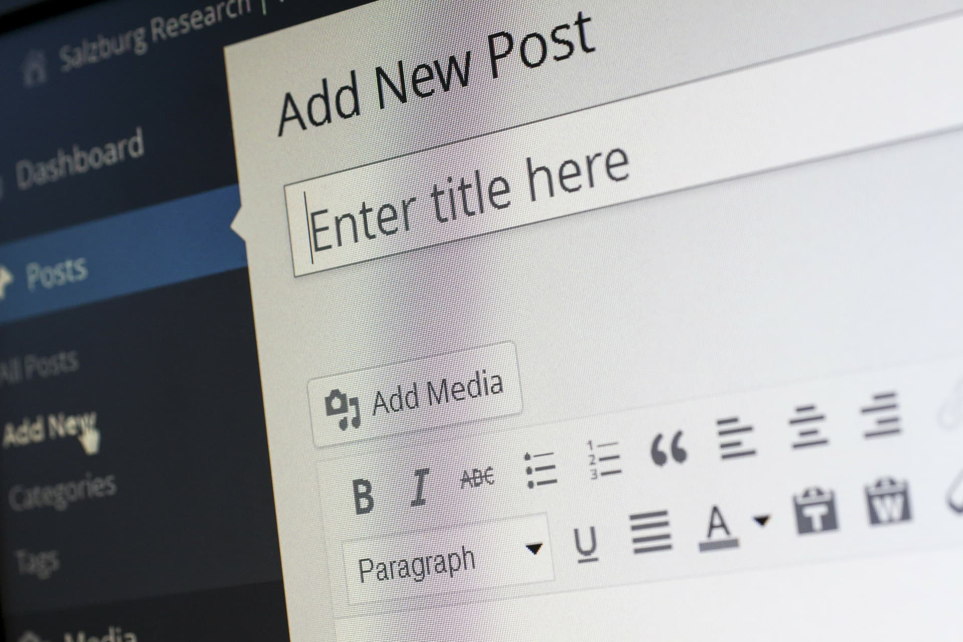 Neue Seite in WordPress erstellen
