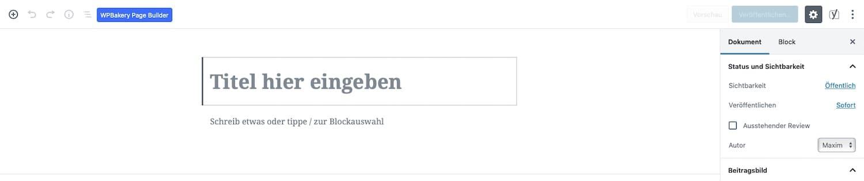 WordPress Seite Titel erstellen